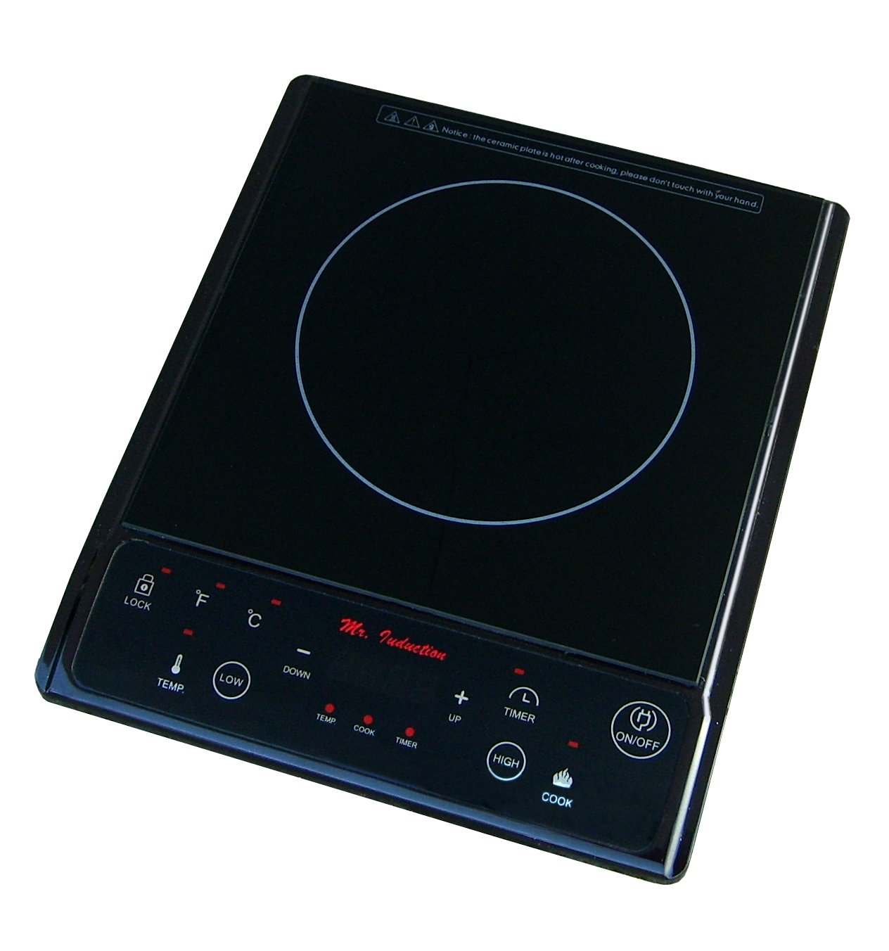 11.81'' Electric Induction Cooktop with 1 Burner FInish: Black