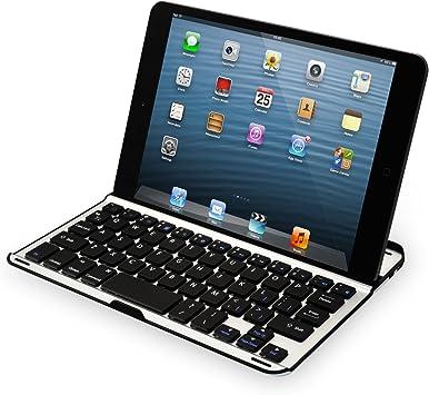 Sharon - Carcasa de aluminio para iPad mini y iPad mini 2 Retina con Teclado Bluetooth incluido; Teclado Bluetooth QWERTY; Protección inteligente ...