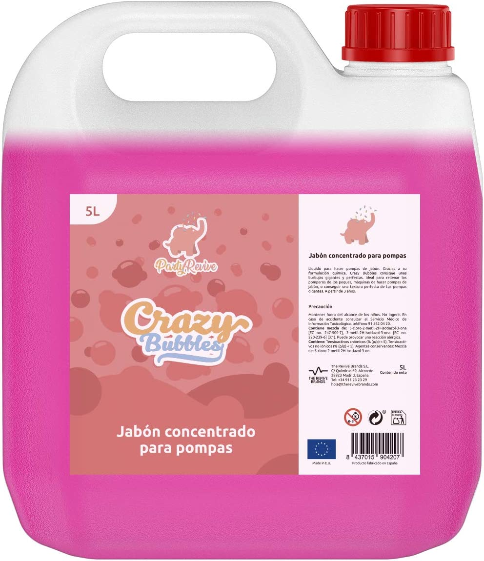 HOUSE REVIVE- Pompas de Jabon Gigantes Liquido Concentrado-5L ...