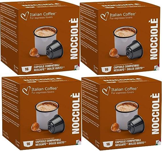 Dolce Gusto Café con Leche Sabor Avellana 64 Cápsulas Compatibles ...