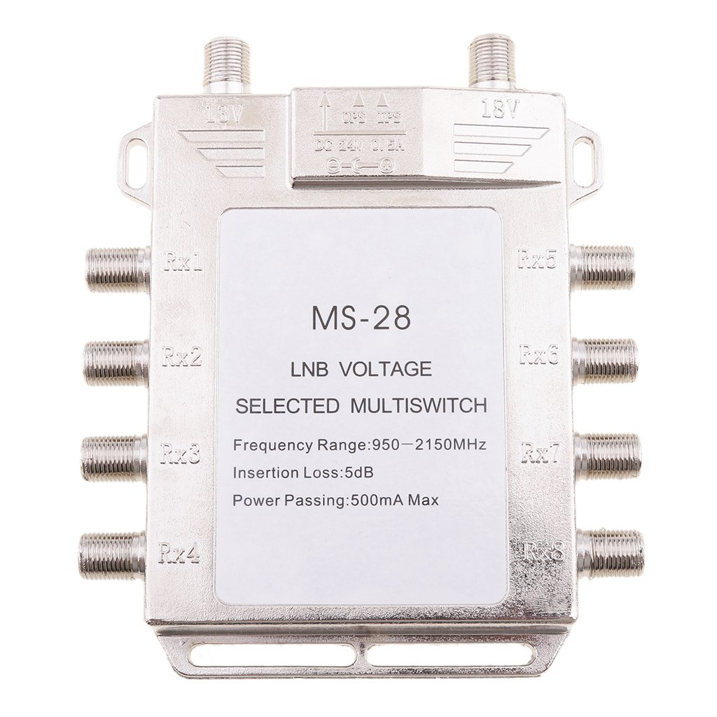 MagiDeal 2x8 Way Multiswitch 2 In 8 Out Multi Switch