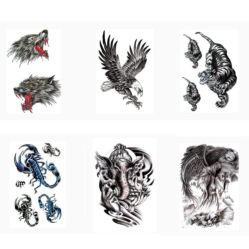 84f99512e Amazon.com : Pinkiou Henna Tattoo Stickers Lace Mehendi Temporary Tattoos  for Maverick Women Teens Girls Metallic Tattooing Pack of 6 (10-0222) :  Beauty