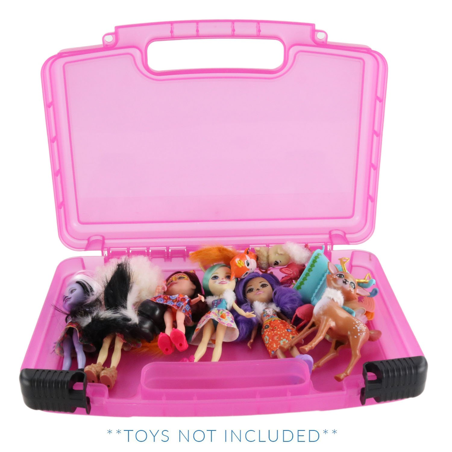 Enchantimals Case, Toy Storage Carrying Box. Figures Playset Organizer. Accessories for Kids by LMB Life Made Better LMB306