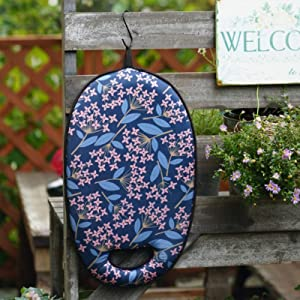 KOSNOR Kneeling Pad For Gardening with Handles for Extra Thick and Comfort, Heavy Duty Kneeler Cushion for Gardening, Bath, Exercise, and Housework. Extra Large (XL) 20x11x2 inches (Blue Floral)