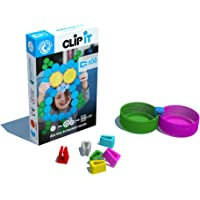 CLIP IT - jeu d'assemblage créatif, éducatif et durable, 90% surcyclé ! Boite de 50 clips-thème Hiboux