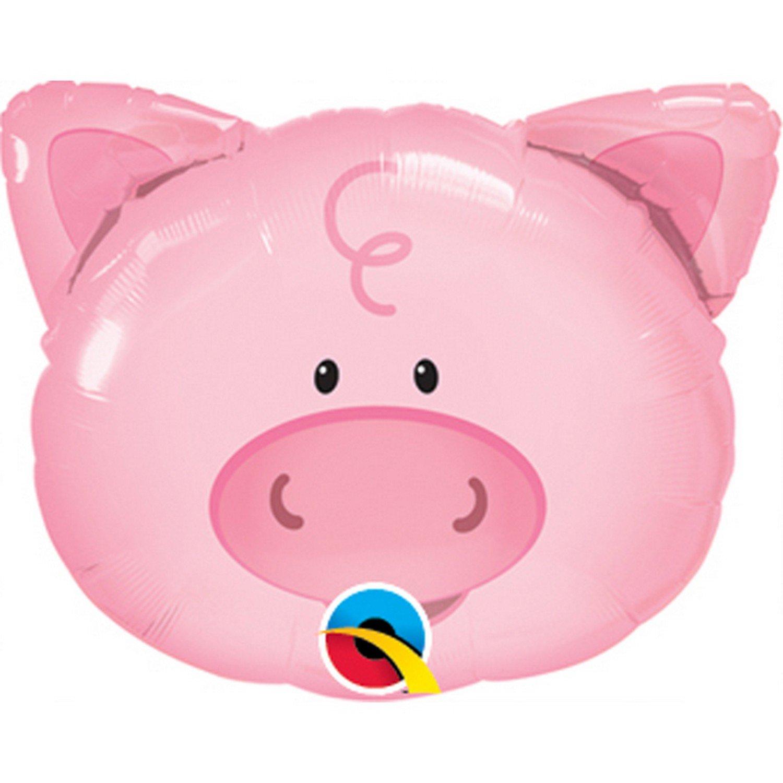 Qualatex Pig Shaped Foil Balloon (14 Inch) (Pink) UTSG4536_2