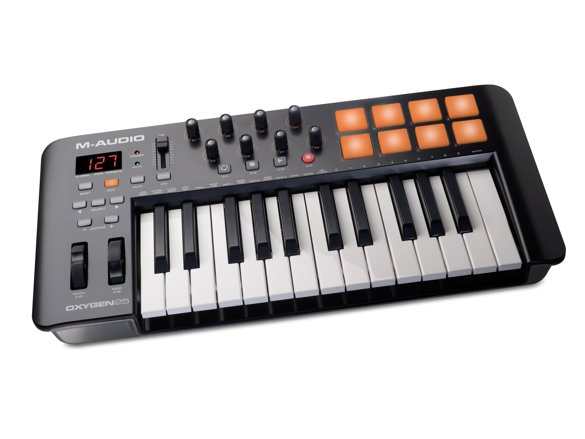 M-Audio Oxygen 25 IV | USB Keyboard and Pad MIDI Controller Featuring Pad/Velocity - Sensitive Keys by M-Audio