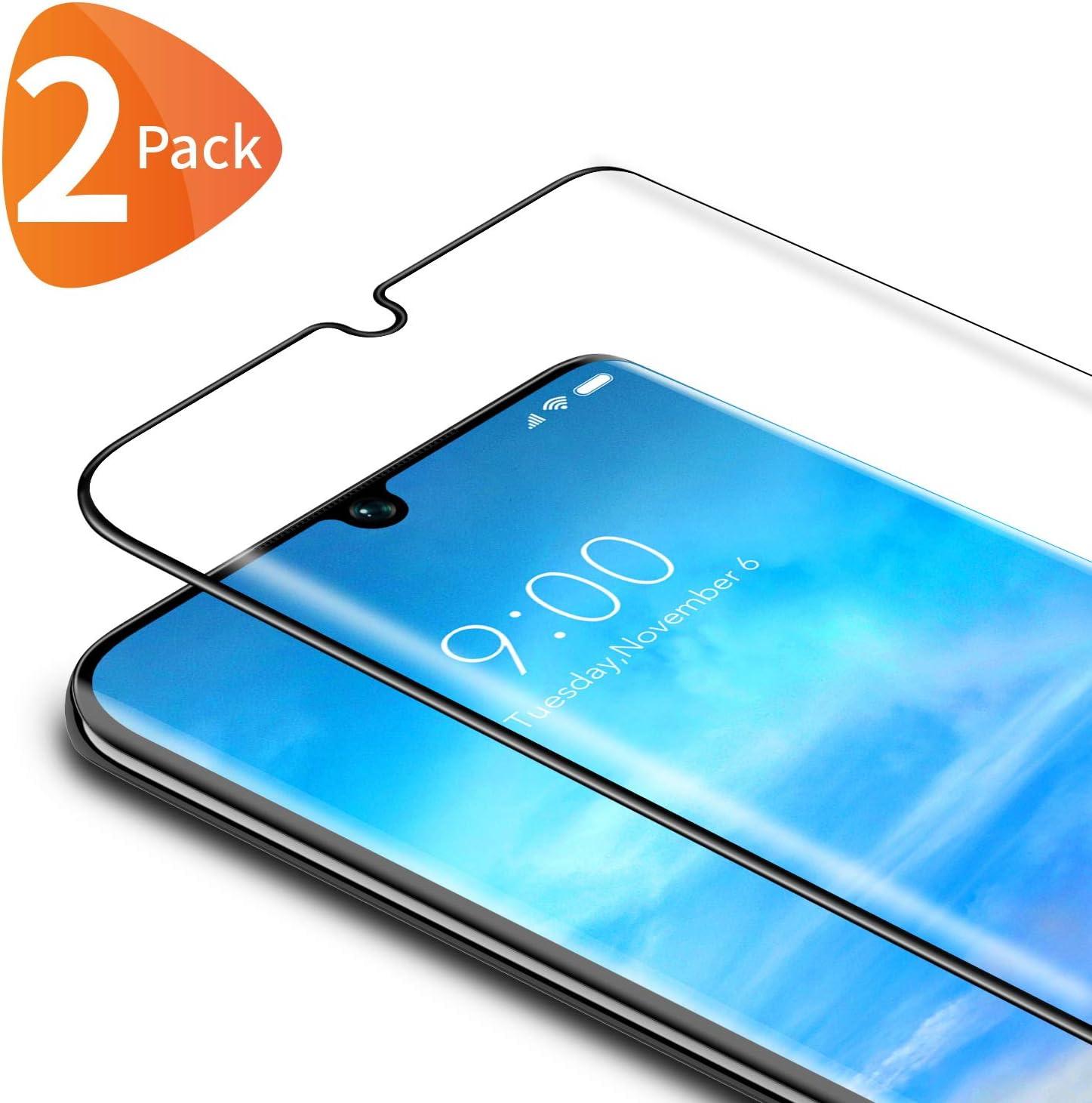 Bewahly Cristal Templado para Xiaomi Mi Note 10 / Note 10 Pro/Note 10 Lite [2 Piezas], 3D Curvado Completa Cobertura Protector Pantalla, 9H Dureza Alta Definicion Vidrio Templado Sin Burbujas