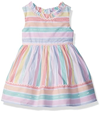 Youngland Baby Girls Pastel Stripe Dress Amazon In Clothing
