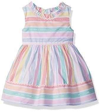 639ce809837d Amazon.com: Youngland Baby Girls Pastel Stripe Dress: Clothing