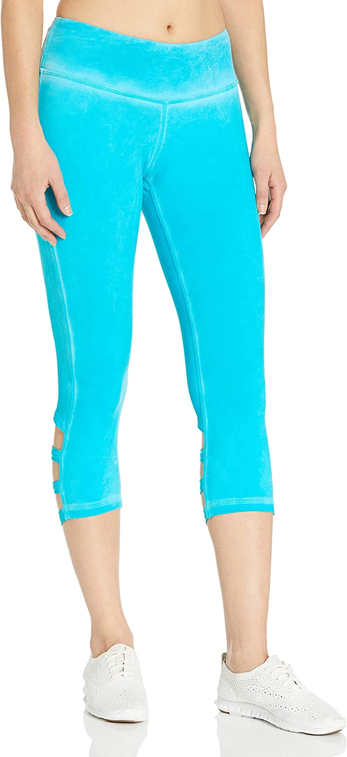 Pink Lotus Womens Washed Up Painted Banded Calf Performance Capri