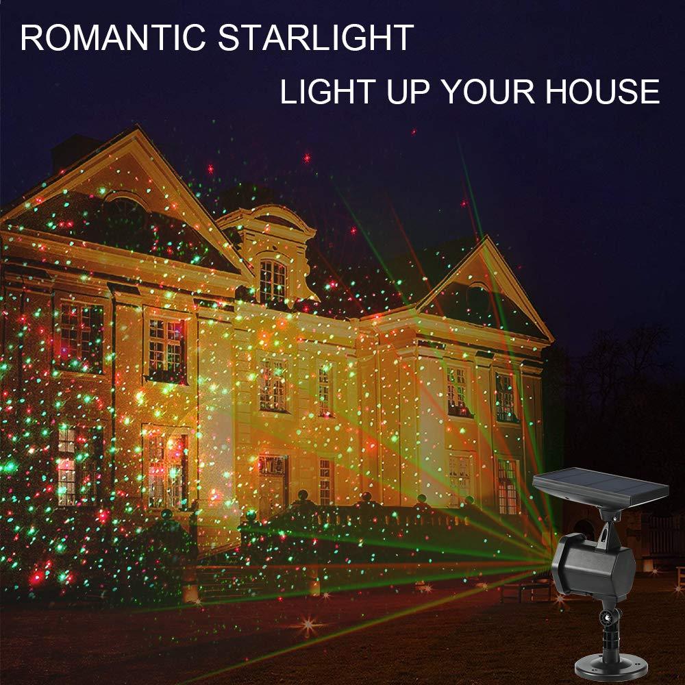 LED Projektionslampe mit 12 Motiven,Gartenleuchte LED Wasserdicht fü r Innen und Auß enbereich Wasserdicht IP65 Gartenleuchte Projektor, Mauer Dekoration, Party Licht, Gartenlicht,Karneval,Weihnachten SUBOSI