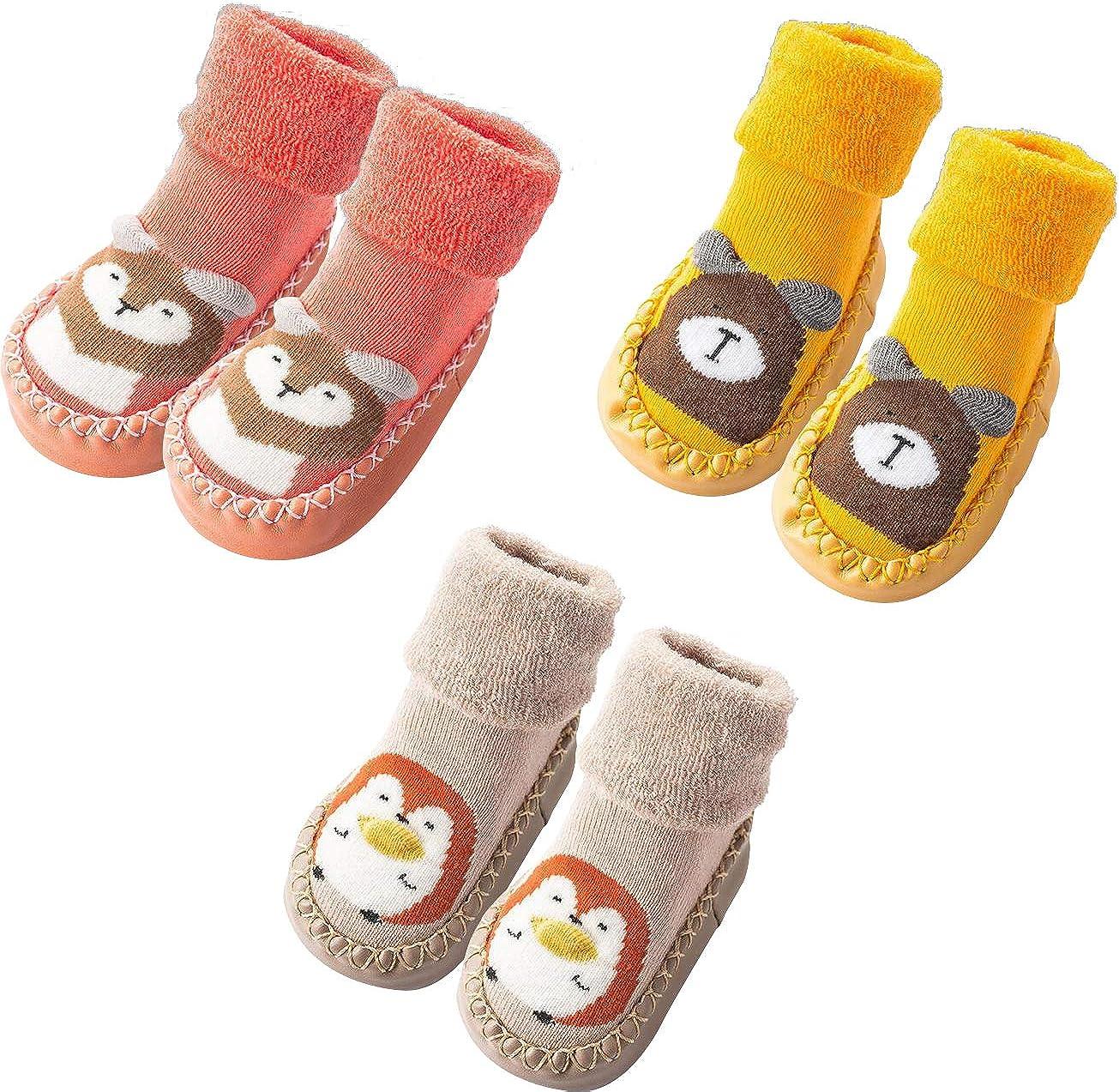 Unisex Newborn Baby Toddler Kids 0-14 Years Boys Girls Cartoon Pure Cotton 5 Pack Socks