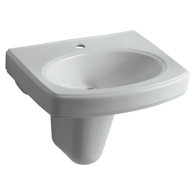 KOHLER K 2035 1 96 Pinoir Wall Mount Bathroom Sink with Single