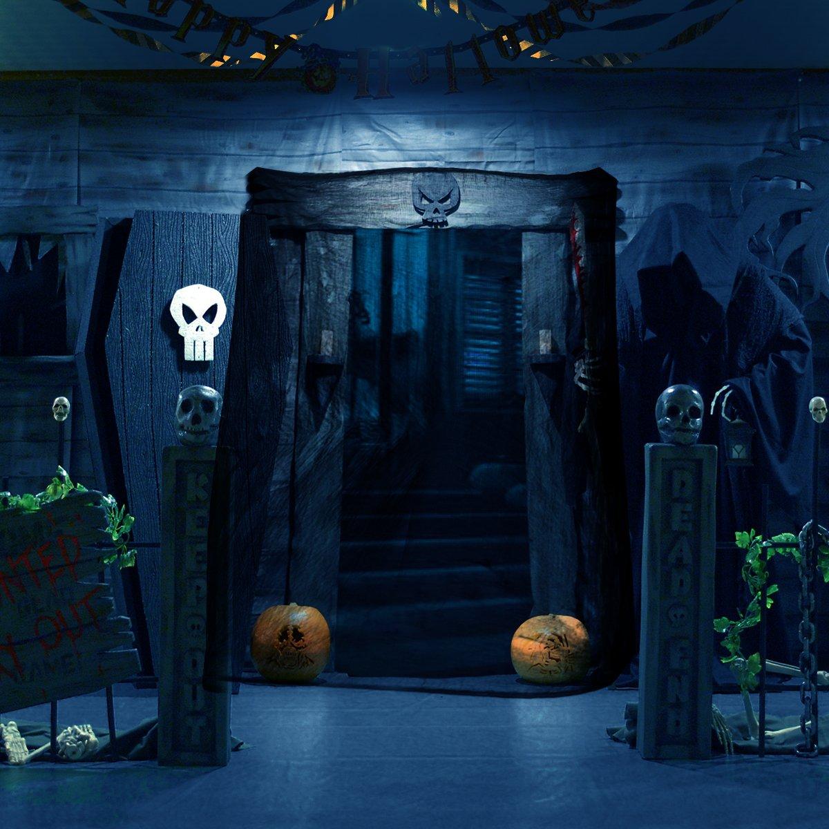 Unomor Black Creepy Cloth, Spooky Halloween Decorations