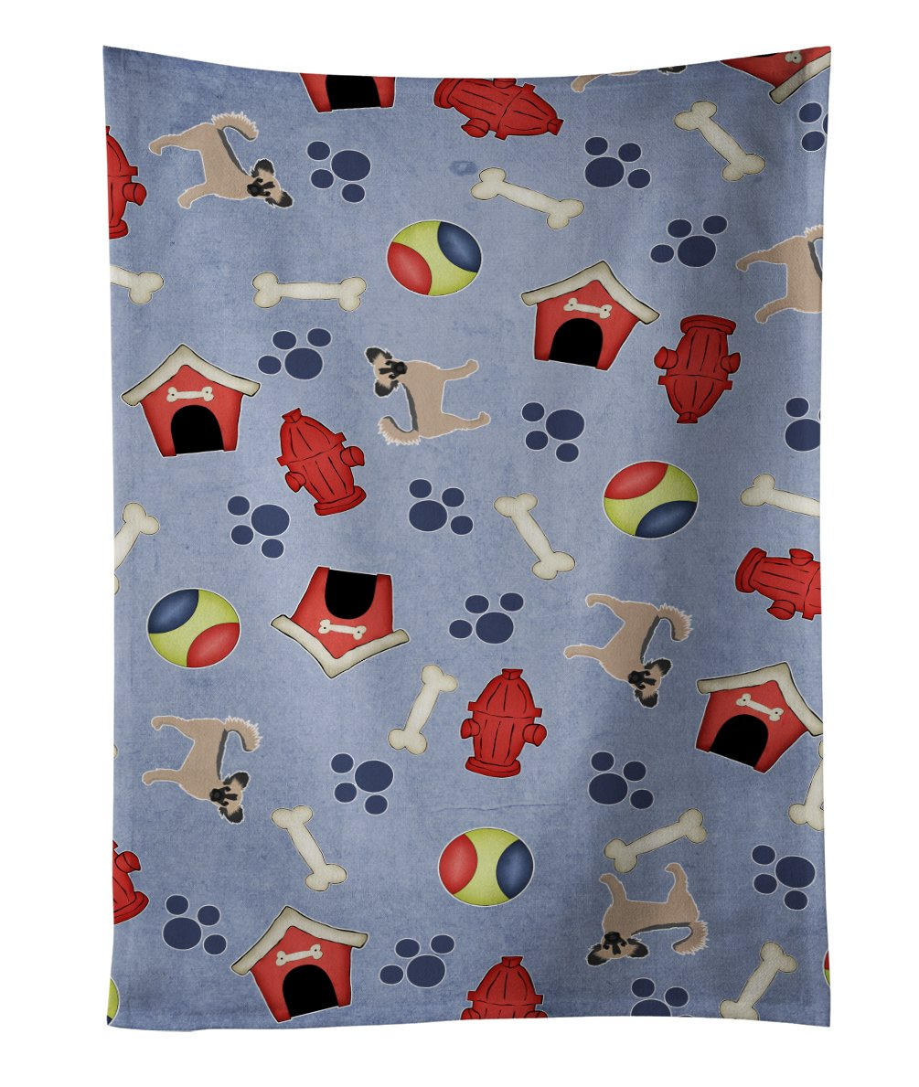 Caroline's Treasures BB4084KTWL Dog House Golden Retriever Kitchen Towel, 25' x 15', Multicolor