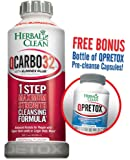 Bundle - 2 Items Fast Detox (1) QCarbo 32 oz. & (1) FREE QPretox 100 capsules ($18.75 Value)by Herbal Clean - For Ultimate Quick Detoxification + Pre & Post Detox - To Get Absolutely Clean Today