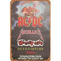 OSONA Acdc Metallica The Black Crowos Retro nostálgico arte tradicional color óxido logotipo de lata publicidad…