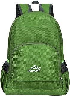 Ultra ligero resistente al agua senderismo escalada Camping Mochilas Casual escuela bolsa de hombro para Teenage niños y niñas, verde ACMEDE