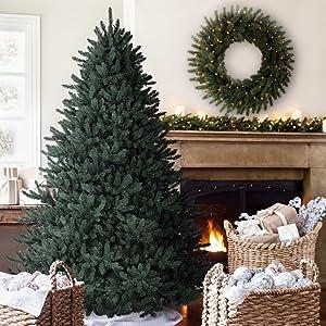 Balsam Hill Classic Blue Spruce Artificial Christmas Tree, 6 Feet, Unlit