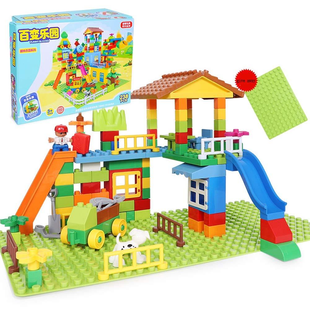 Hbwz Giocattolo educativo per Bambini Set Giocattolo educativo Grande Particelle Regalo Adatto per 3-4-5-6 Anni Ragazzo Ragazza (113PCS)