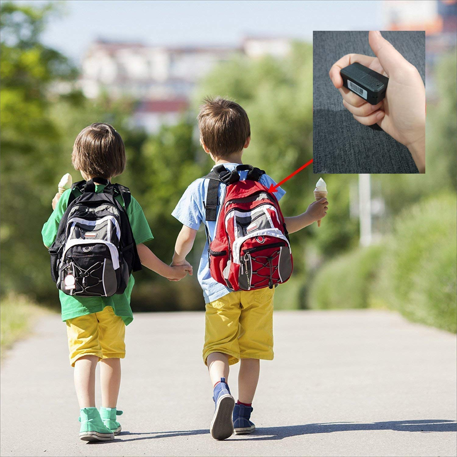 Mini GPS Tracker TKSTAR Anti-Theft Real Time Tracking on App Anti-Lost GPS Locator Tracking Device for Bags Kids Satchels Important Documents Luggage TK901 JUNEO