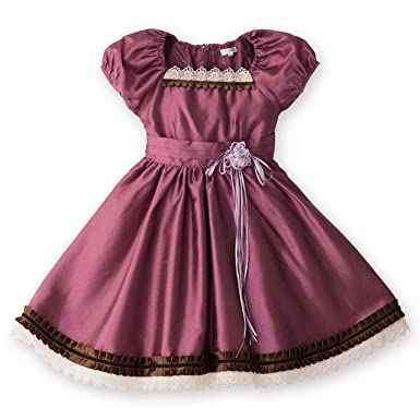 a44f10f163721 Catherine Cottage 発表会 結婚式 フォーマル 子供ドレス 女の子 ガーデニア ワンピース PC245OP 120cm パープル