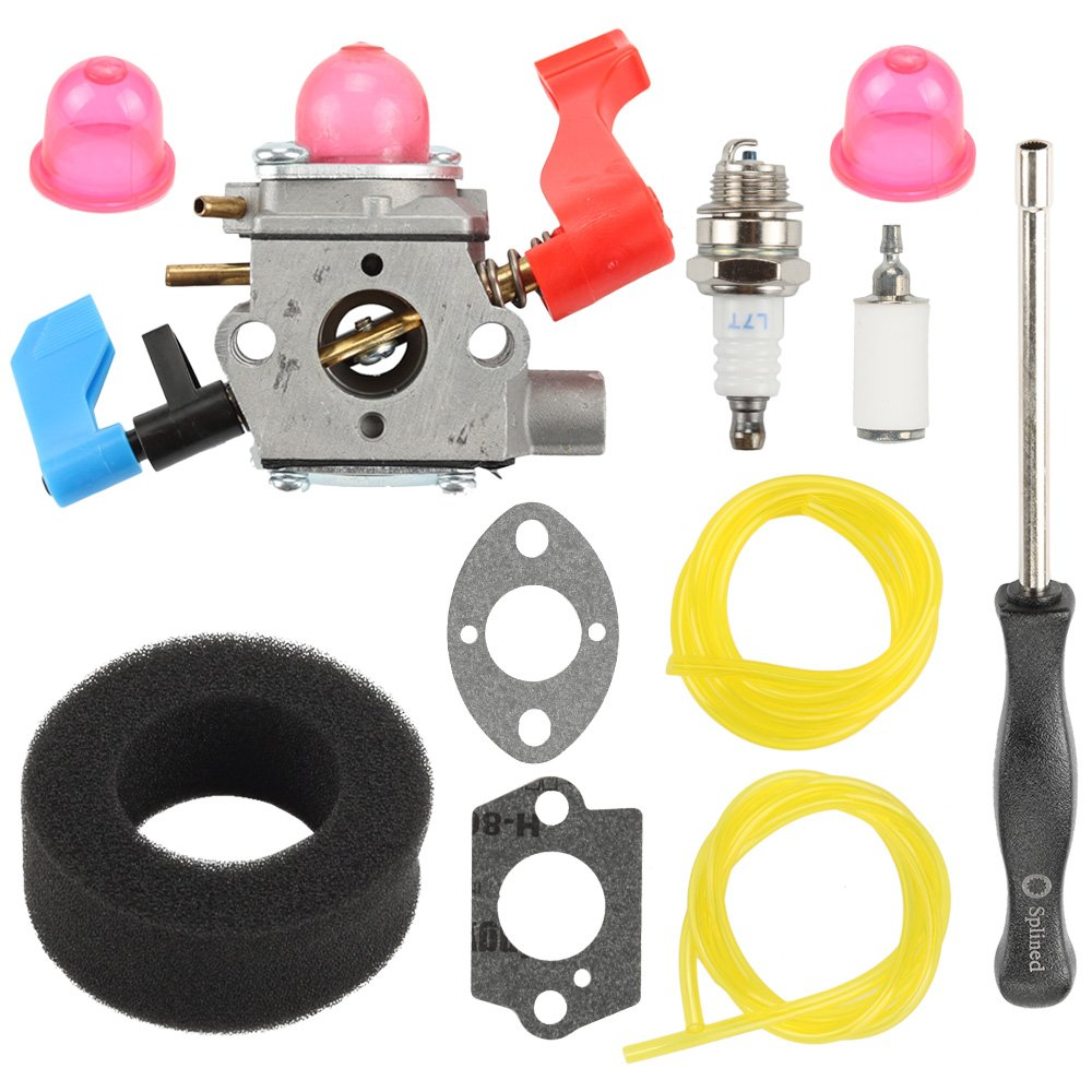 Harbot WT-784 Carburetor with Air Filter Tune Up Kit for Poulan Weed Eater Craftsman 530071465 530071775 B1750 B1750LE BV1650 BV1650LE BV1800 BV1800LE BV1850 BV1850LE BV200LE BV2000 Leaf Blower