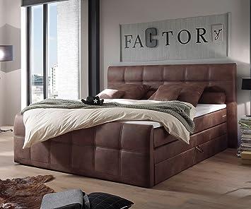 Cama Amarillo Marrón 180 x 200 cm con colchón cama de y decoraciones con somier: Amazon.es: Hogar