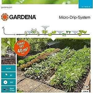 Gardena 13015-20 Set de Inicio (Sistema jardín Micro-Drip para el riego Flexible e Individual de los parterres de Flores y los bancales hortalizas): Amazon.es: Jardín