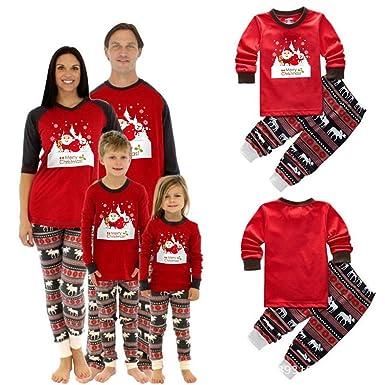 4e63f995cd83c Ensemble de Pyjama de Noël Assorti Femme Bébé Enfant Vêtements de Nuit  Vêtements de Nuit (6-12 M