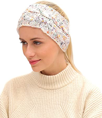 7dccd815 Image Unavailable. Image not available for. Color: BESUMA Women Winter Warm  Beanie Headband Skiing Knitted Cap Ear Warmer Headbands ...