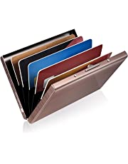 GreatShield RFID Blocking Wallet [6 Slots | Stainless Steel] Identity Safe Protection Card Holder (Rose Gold)