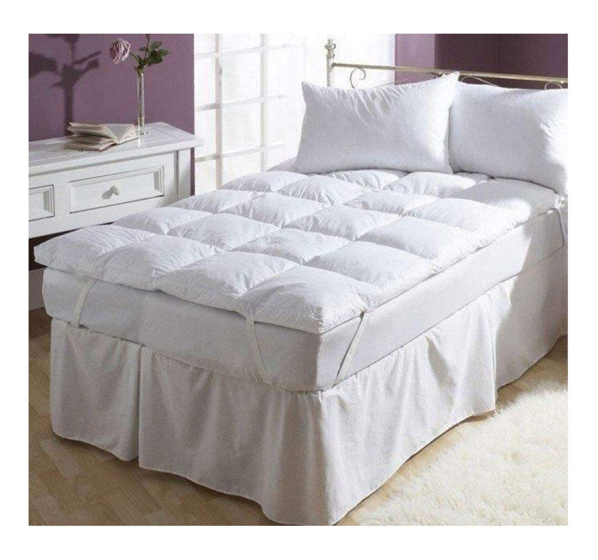Rimi Hanger Luxury Soft 100% Cotton Duck Feather and Down Mattress Filled Topper Double