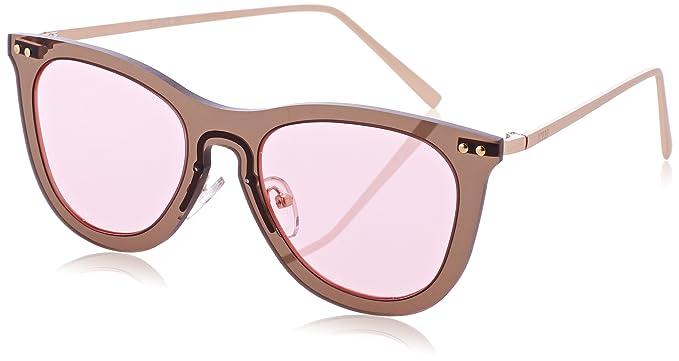 Ocean Unisex-Erwachsene Sonnenbrille Eye, Rosa (Rosa/Trasparente), 55