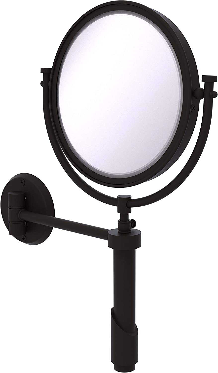 Allied Brass SH-4//2X-ORB 8-Inch Table Mirror 2X Mag Oil Rubbed Bronze
