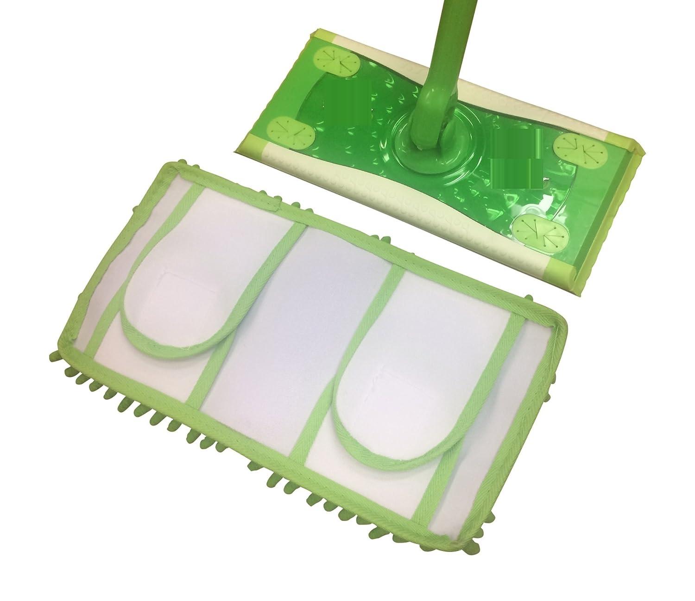 Set of 2 Reusable Chenille Dust Mop Pads