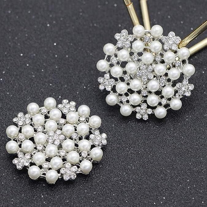 Amosfun Novia Rhinestone Zapato Clips Cristales Hebillas Boda Fiesta decoraci/ón Mujer 2 Piezas