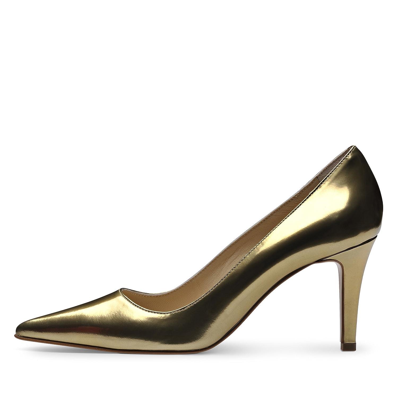 JESSICA Damen Pumps Brushleder Gold Gold Brushleder 425e66