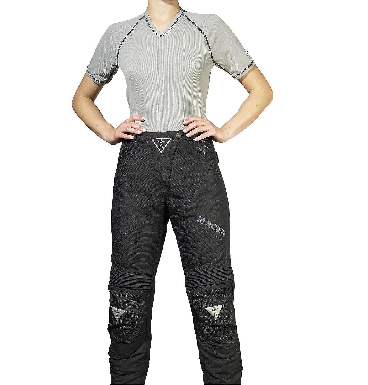Racer Adventure PlusLadies Textilhose Gr/ö/ße 2XL Schwarz