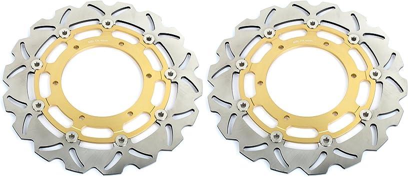 Tarazon Gold Paar Bremsscheiben Vorne Für Yamaha Fjr 1300 A 2003 2017 Ae 2006 2009 As 2006 2011 Rp13 Auto