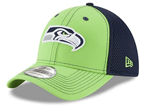 d08142e5c273e Amazon.com   Seattle Seahawks Flex Fit Medium   Large Lime Green Hat ...