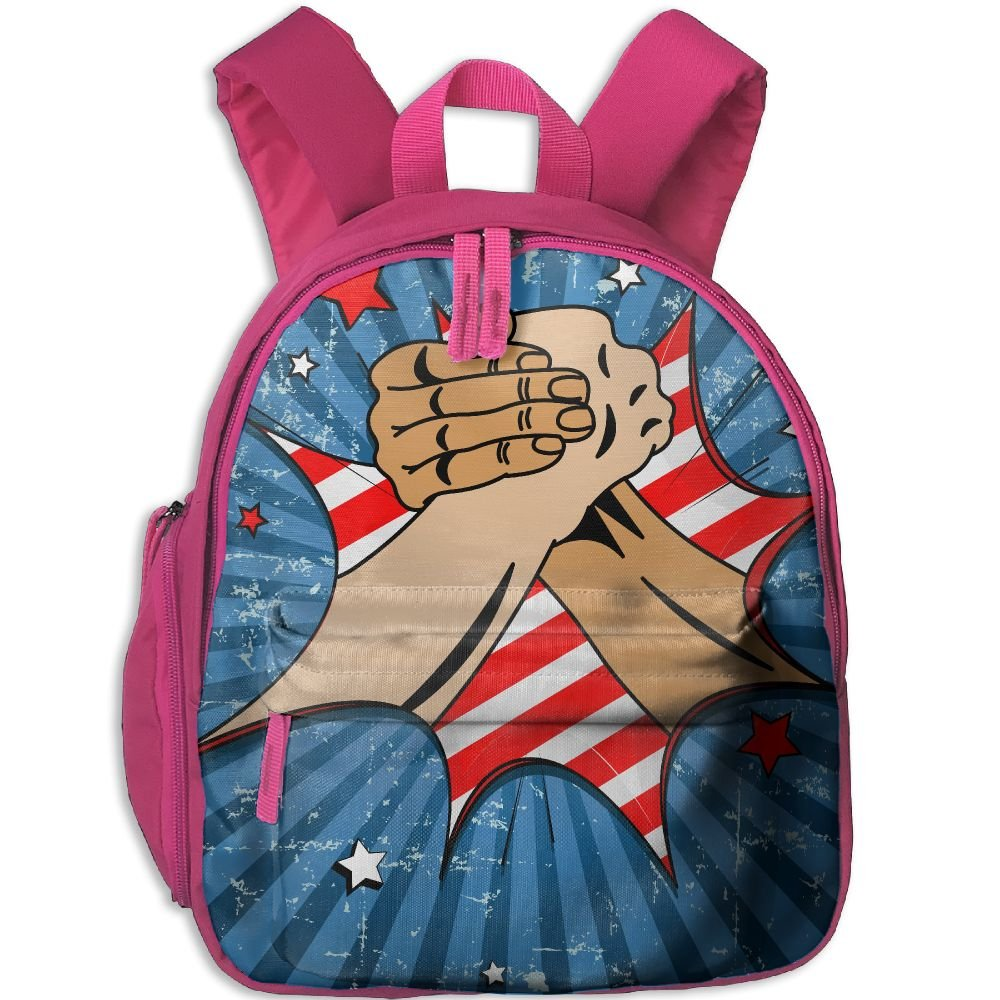 Backpack, School Backpack For Boys Girls Cute Fashion Mini Toddler Canvas Backpack, Arm Wrestling by Sunmoonet
