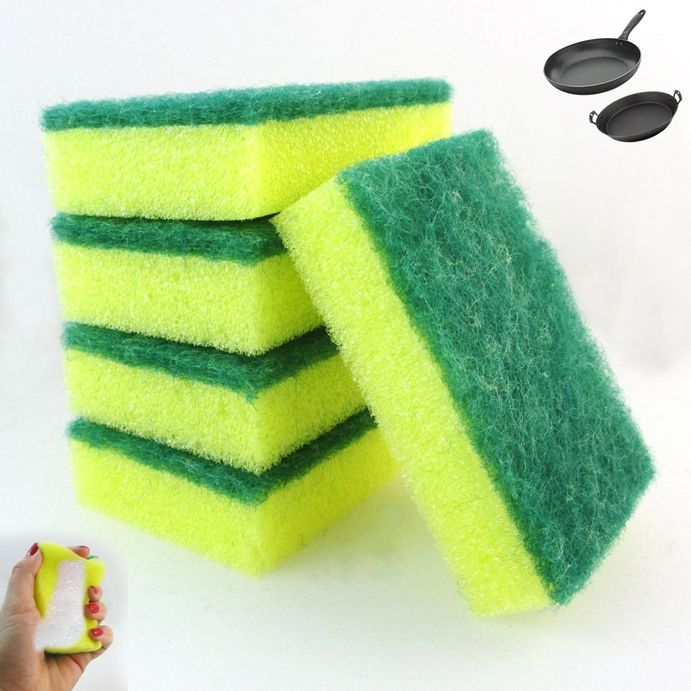 100 Lot Kitchen Sponges Scrubber Bathroom Tiles Scourer Clean Dishes Shower Pans by MY IMPORTS USA