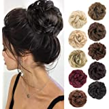 MORICA 1PCS Messy Hair Bun Hair Scrunchies Extension Curly Wavy Messy Synthetic Chignon for women Updo Hairpiece(Color:2…