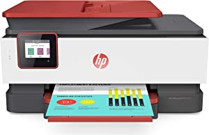 HP OfficeJet Pro 8035 All-in-One Wireless Printer - Includes 8 Months of Ink Delivered to Your Door, Smart Home Office Productivity - Coral (4KJ65A)