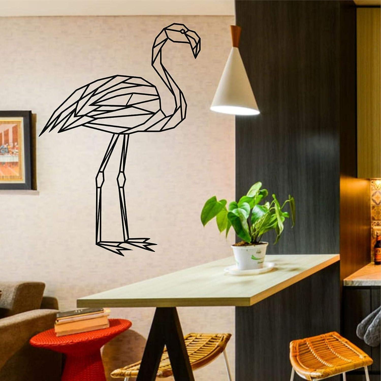 DEKADRON Flamingo Bird Art, Metal Birds Decor, Metal Wall Decor, Home Living Room Décor, Wall Hangings, Geometric Bird Wall Art (16'' W x 24'' H 41x60cm)