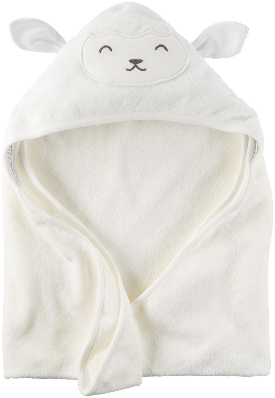 Carter's Hooded Bath Towel - Little Lamb - White