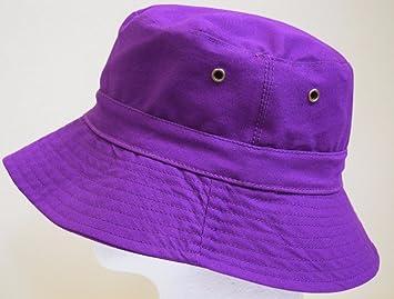 Amazon.com   Purple Bucket Hat Cap Boonie Cotton Fishing Hunting Safari Sun  Men Women Brim   Baby 694e87dbbc50