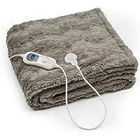Klarstein Dr. Watson Comfort & Style - elektrische verwarmingsdeken, gezellige deken, verwarmde deken, 120 watt, 180 x…